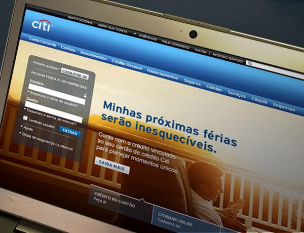 Nova agência do Citi com conteúdo digital da Conteúdo Online