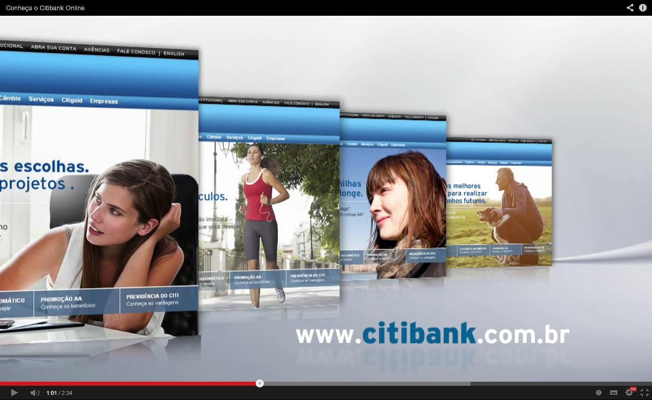 Vídeos para o site CITIBANK
