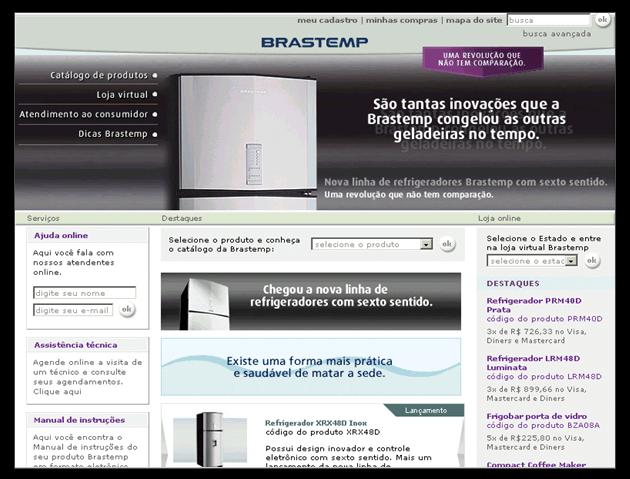 Case Brastemp - website - Conteúdo Online