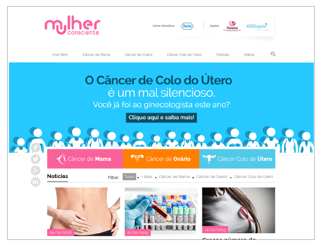 Case Roche - mulher consciente - Conteúdo Online
