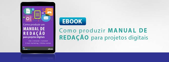 """E-book """"Como produzir um manual de redação para projetos digitais"""""""