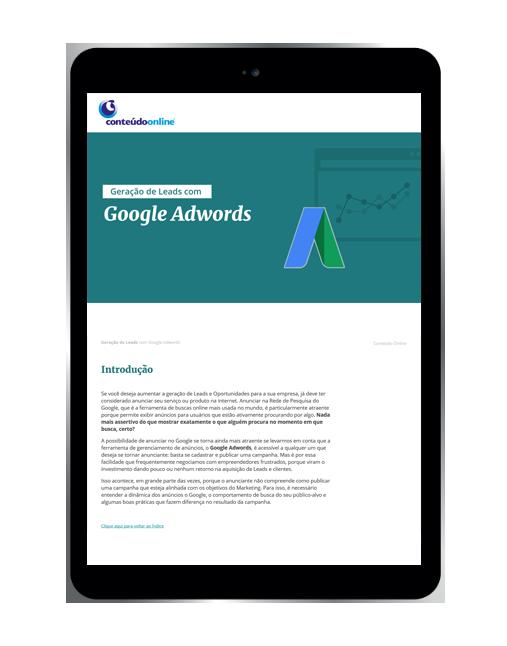 Geração de leads com Google Adwords - Conteúdo Online