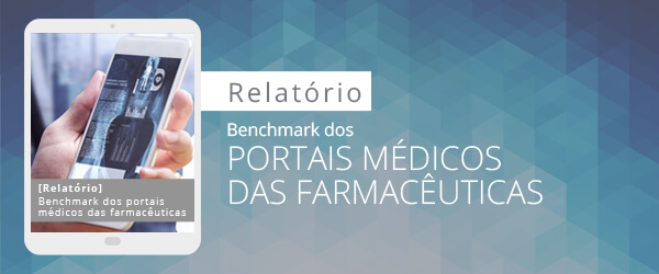 """Capa do relatório """"Benchmark dos portais médicos das farmacêuticas"""" – Conteúdo Online e WebPeak"""